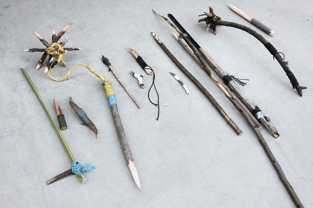 Here's a small sample of a few improvised weapons created by untrained survivalists over the course of a few hours. The diversity seen here is truly impressive. Now imagine what could be done with a little study and practice.