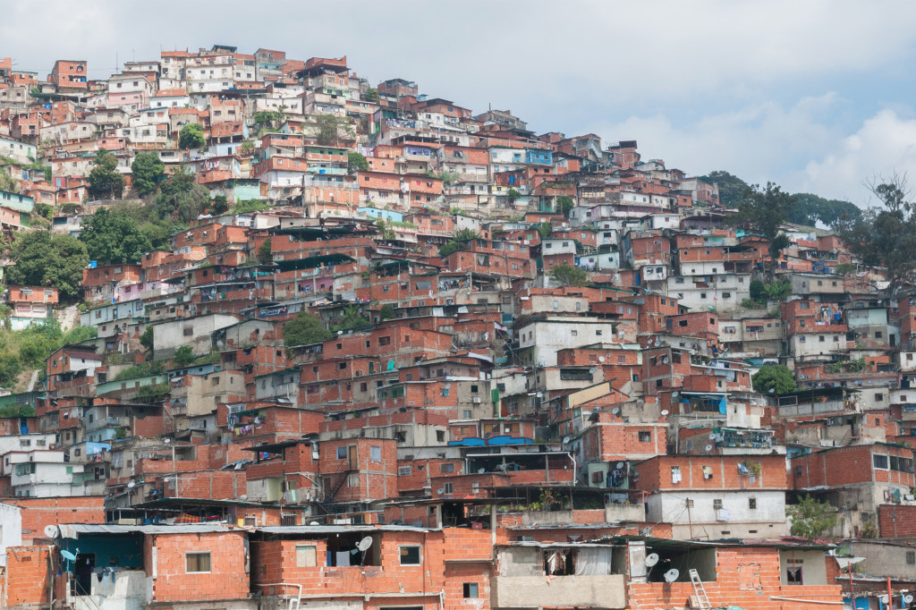 Crime is rampant in Venezuela, especially in low-income districts such as the Petare slums to the east of Caracas. Source: Wikipedia