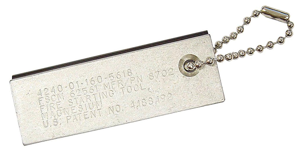 This magnesium bar contains an embedded ferro rod, but the rest of the bar is pure magnesium.