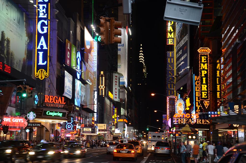 New years new york crowd street city building 6